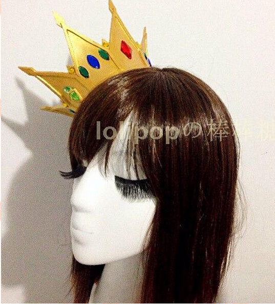 Anime hot selling Sora No Game No life Crown lolita punk princess prince accessory cosplay crown pro