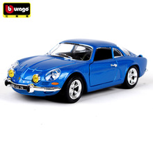 Bburago 1:24 1971 Renault Alpine simulation alloy car model crafts decoration collection toy tools gift
