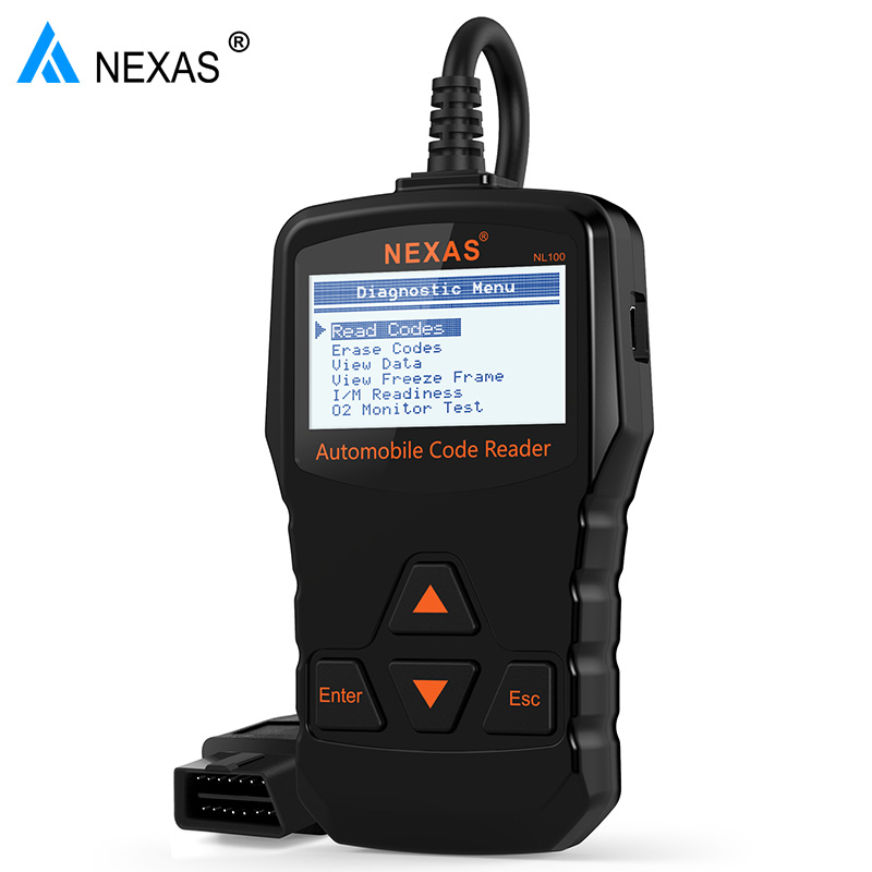 Nexas NL100 OBD2 Auto Diagnostic Scanner Engine Diagnostic Tool Automotive Scanner Universal Car Scan Tool Better than AD310 newest obdmate om520 lcd obd2 eodb car diagnostic scanner obdii interface om520 obd 2 ii auto diagnostic tool scanner