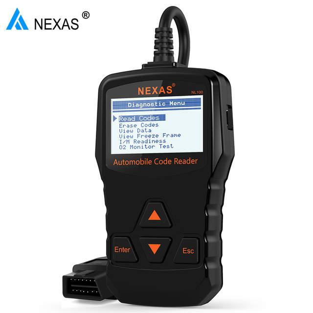 Nexas Nl100 Obd2 Auto Diagnostic Scanner Obdii Engine Automotive Scanner Universal Obd 2 Car Auto Scanner Pk Elm327 Obd
