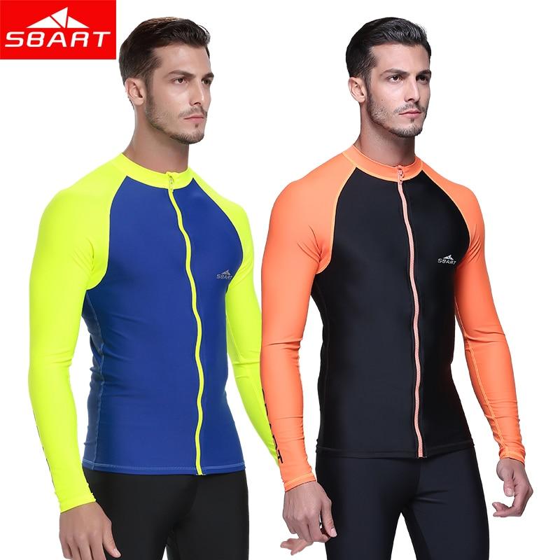300658f63d3 SBART Rash Guard Men Long Sleeve Rashguard Swim Shirt 2016 new Surf Lycra Rash  Guard Swimwear For Men Diving Wetsuit Top UPF50+
