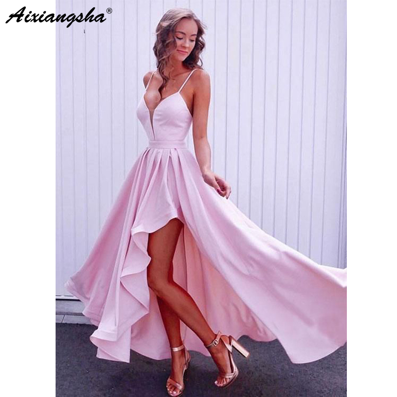 Pink 2019   Prom     Dresses   A-Line Sweetheart Sexy Backless Plus Size Simple Long   Prom   Gown Evening   Dresses   Robe De Soiree