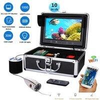 GAMWATER 10 LCD Monitor Wifi Wireless 720P 20M 30M 50M 1000tvl Underwater Fishing Video Camera Kit