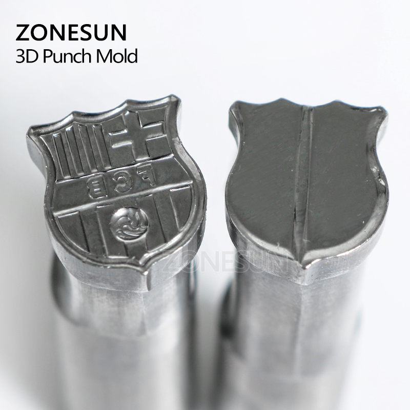 ZONESUN Football Sugar Logo Tablet Press 3D Punch Mold Candy Milk Punching Custom Logo Punch Stamp Die Mould TDP 1.5/5 Machine mould logo custom services 12 cavities english character simple pattern brand identity