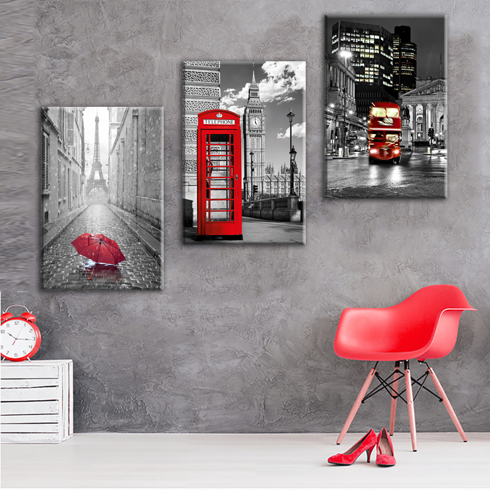 Постер черный с красным