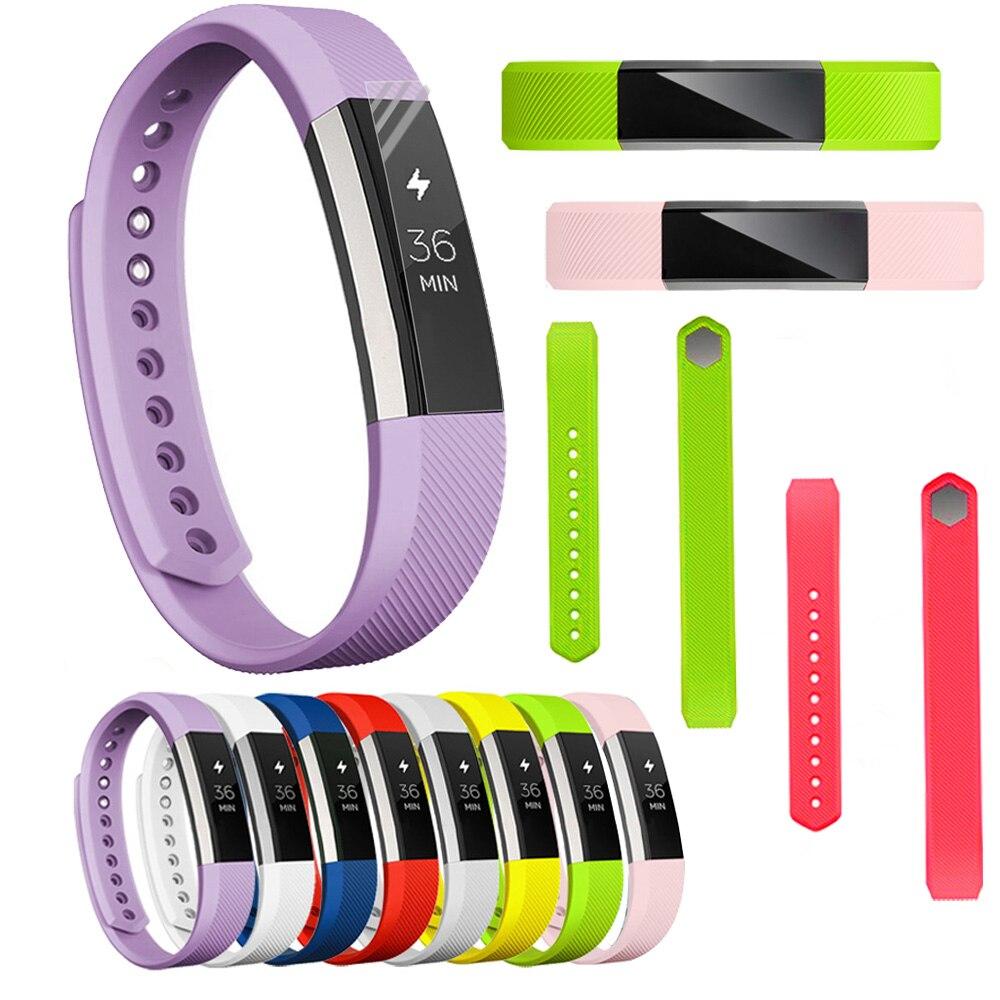 Silicona suave de alta calidad, banda de seguridad ajustable para Fitbit Alta HR, pulsera con correa de muñeca, accesorios de repuesto para reloj