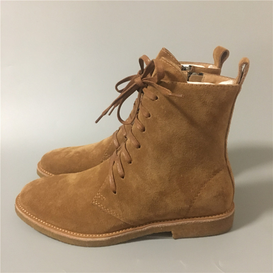 High Top Lace Up Real Leather Suede Boots Chelsea Men Luxury Raw Rubber Handmade Military Botas martin Boots high end handmade customized high top luxury demin boots men genuine leather personalized suede folds chelsea boots
