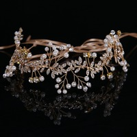 Fashion Tiara Hairwear Simulated Pearl Crystal Flower Jewelry Hair Accessories Romatic Wedding Hair Headwear CY161117 114