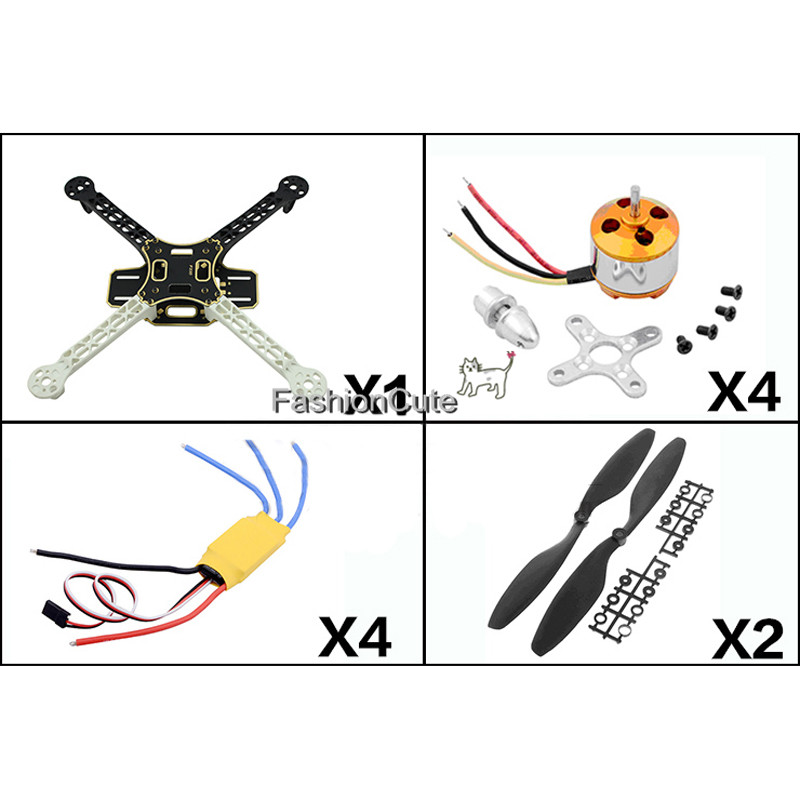 цена на F450 450 Quadcopter MultiCopter Frame kit with 2212 Motor+30A ESC+1045 props Propeller for DJI F450 F550