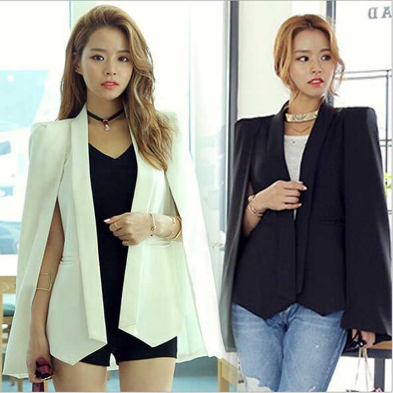 2018 Musim Gugur Wanita Blazer Lengan Panjang Single Women 'S Jaket OL Kualitas Tinggi Fashion Slim Pendek Wanita Sesuai Ma -33