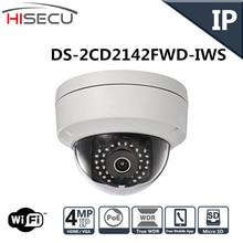 Inglés Versión Cámara IP 4.0 megapíxeles Sistema de CCTV Cámara de Seguridad POE V5.3.3 DS-2CD2142FWD-IWS WIFI IP Cámara 4mm lente