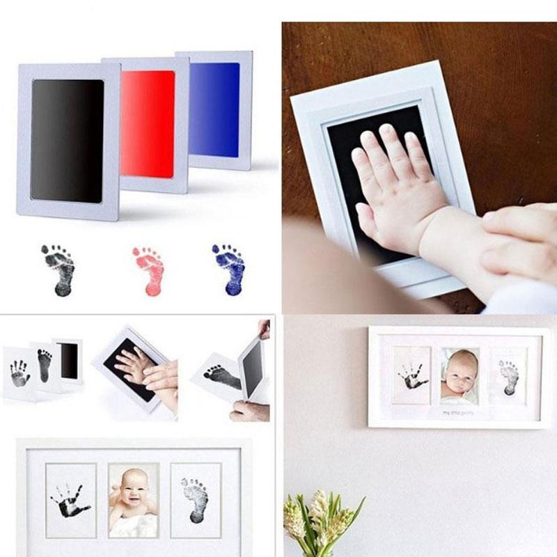 Baby Handprint Footprint Non-Toxic Newborn Imprint Hand Inkpad Watermark Infant Souvenirs Casting Clay Toys Cute Gift