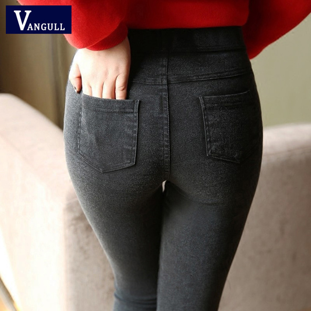 ad62c3551d5ae New Fashion Ladies Casual Stretch Denim Jeans 2017 Hot Leggings Jeggings  Pencil Pants Thin Skinny Leggings