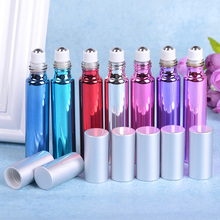 10ml Creative Color Perfume Roller Bottle Glass Fragrance Bottles Empty Essential Oil 10pcs/lot P141