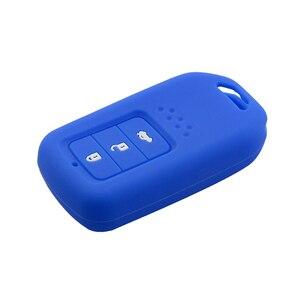 Image 4 - Yeni Stil silikon araba anahtarı kapağı Durum Için Honda Accord 9 Crider CRV HRV 3 Düğmeler Akıllı Araba Anahtarı koruyucu kabuk Aksesuarları