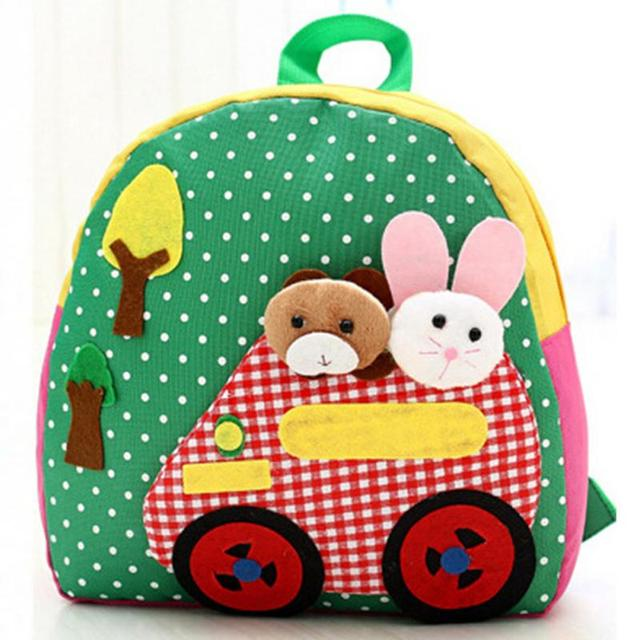 Kindergarten Kids Schoolbag Children School Bag Cartoon Animal Character  Bags Canvas School Backpack mochila infantil