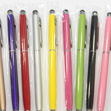 New Universal 2 in 1 Tablet Capacitive Stylus Pen With Ball Point Pen Microfiber Touch Screen Pen for Iphone for Samsung недорого