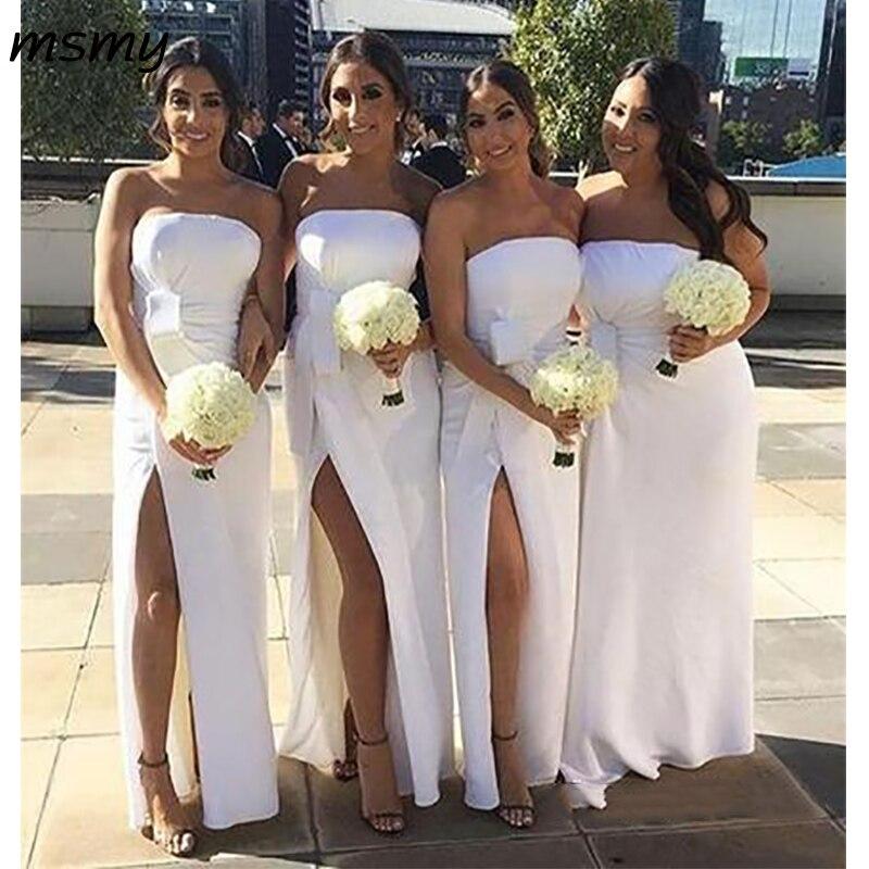 Elegant Mermaid   Bridesmaid     Dresses   Sleeveless Side Split   Bridesmaid     Dresses   Custom Made