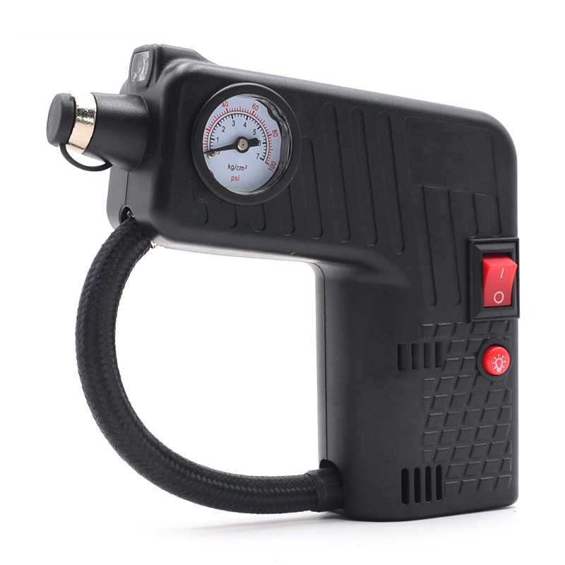 12V Car Electric Air Compressor Tire Inflator Pump For Auto Car Motorcycle Bicycle Tire Repair Tool 100 PSI Tire Pressure Check
