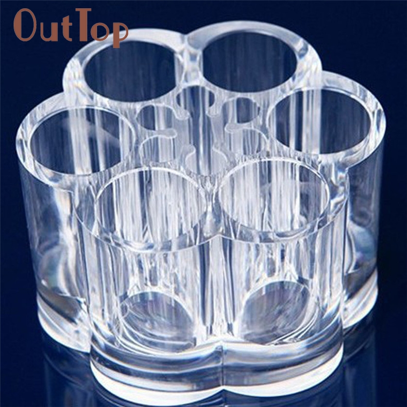 Aliexpress.com : Buy Y Design Acrylic Flower Cosmetic And Makeup Brush Holder With 12 Spaces For Women Beauty Dropship from Reliable flower girl wedding ...
