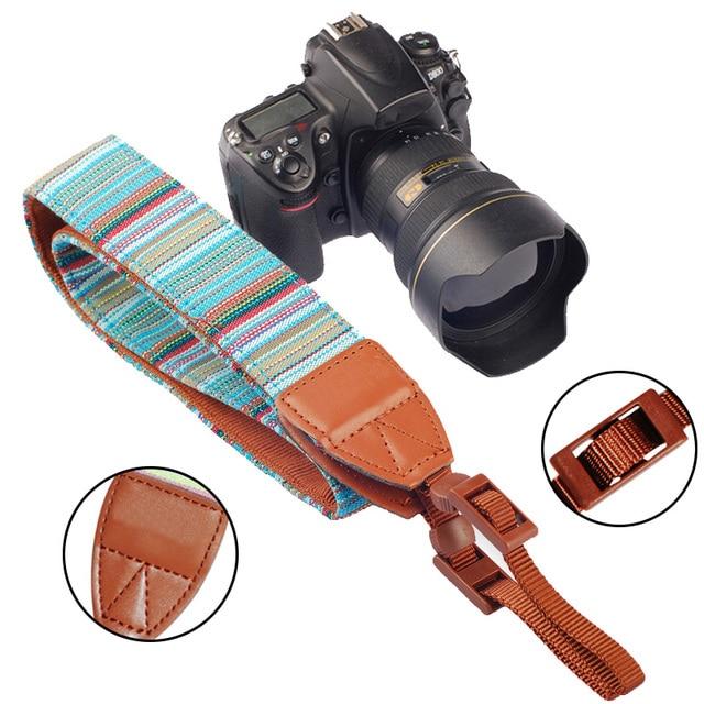 Cámara Correa para el Cuello de Estilo Retro Lona Del Cuello Del Hombro Correas para Nikon para Canon para la Cámara de DSLR