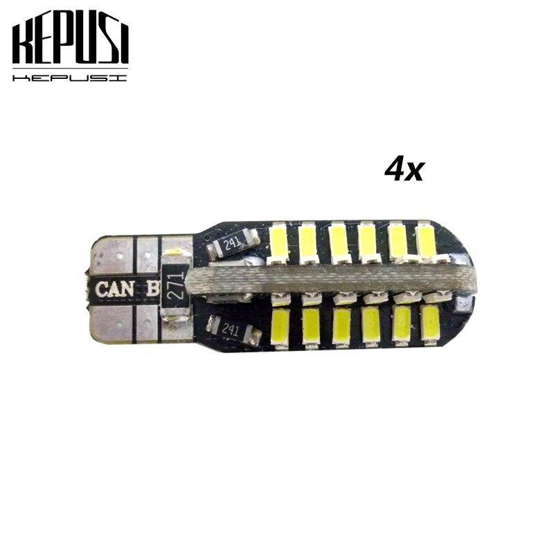4 Pcs Canbus T10 W5W LED Auto Car Light led 194 Error Free White/Warm White Bulbs 12V car styling