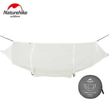 Naturehike 1-2 Person Outdoor Hammock Camping Hanging Sleeping Bed Swing Portable Double Chair Hamac with Mosquito Net