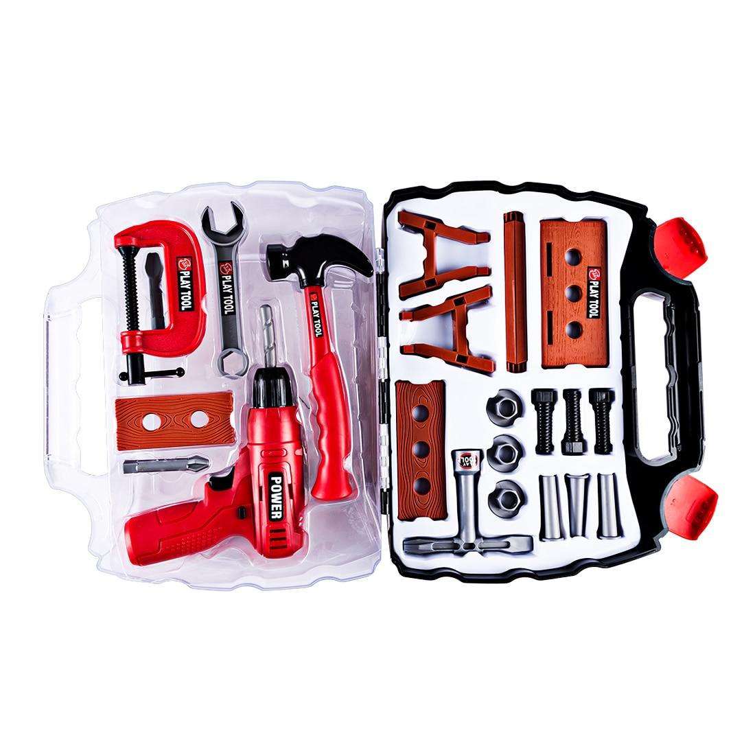 цены на Surwish 22Pcs Children Pretend Play Toys Electric Tool Set Educational Gift Early Educational Toys For Kid  в интернет-магазинах