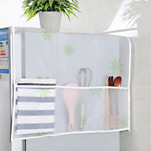 PEVA Refrigerator Covers Waterproof Kitchen Dust Cover Hanging Bag Appliance Household Goods Storage 157
