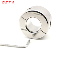 QRTA חדש צק אשכים תלוי 970 גרם (34.2 oz) כדור אלונקה פין טבעת זין מכשיר אשך למתוח פטיש אל חלד צעצוע מין פלדת