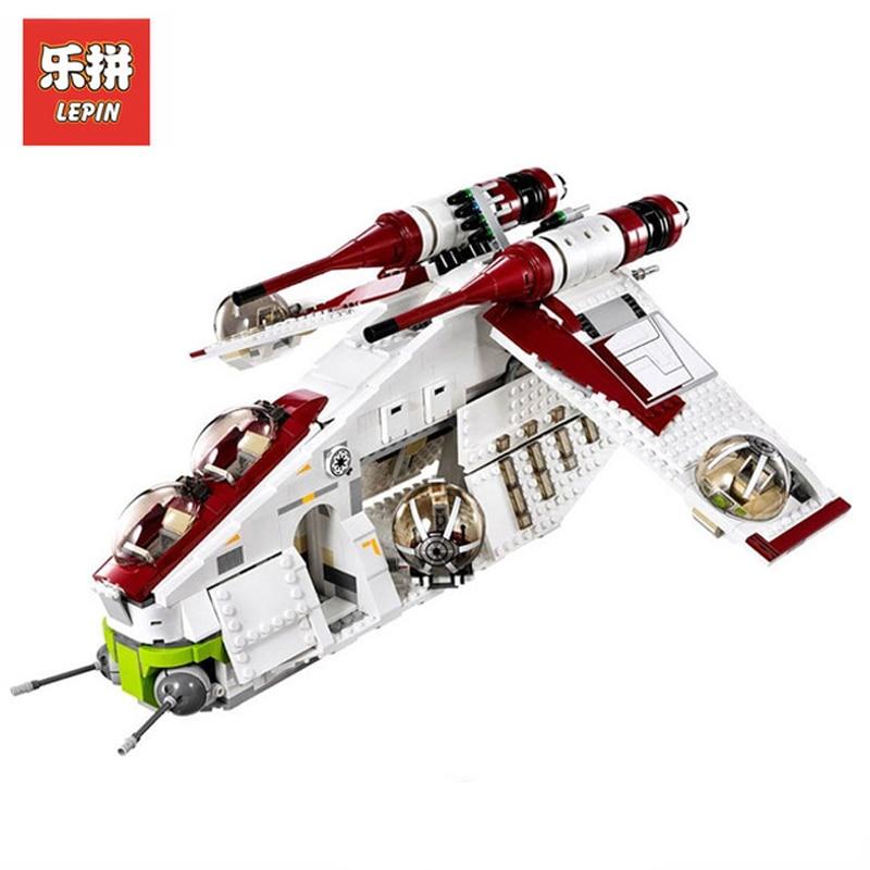 In Stock DHL Lepin Sets 05041 1175Pcs Star Wars Figures Republic Gunship Model Building Kits Blocks Bricks Kids Toys Gift 75021
