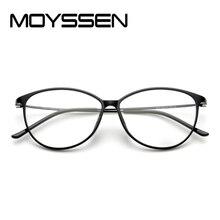 d15be621d15fa Moyssen High-end Retro Mulheres Olho de Gato óculos de Armação de Titânio  Plástico Flexível