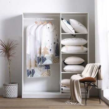 Luluhut futro płaszcz osłona przeciwpyłowa przezroczyste torby dla ubrania drukowanie ubrania pokrywa przezroczysta odzież garsonka osłona torba na garnitur tanie i dobre opinie XF4012 Nowoczesne PRINTED cartoon PEVA