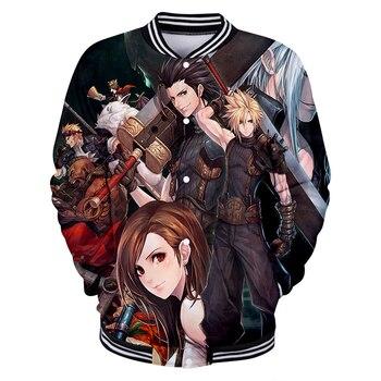Men Game Final Fantasy VII FF7 jackets Game 3D Print Boy's Baseball uniform Student high quality Keep Warm Sweatshirts Coat 4XL фото