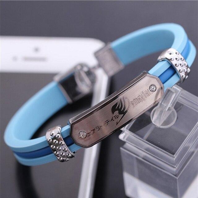Anime Fairy Tail Fashion Silica Gel Bracelet Wristband Cosplay Prop Gift