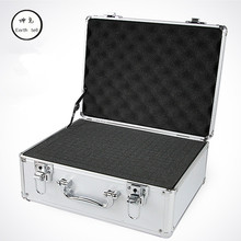 Aluminum ABS Travel bag Tool case suitcase toolbox File box Impact resistant safety equipment camera with pre-cut foam lining sq6108 portable tool suitcase with full precut foam