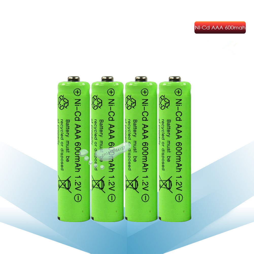 kpay 2/4/6/8pcs New AAA 600mAh NI-CD 1.2V Rechargeable Battery 3A <font><b>7</b></font># battery for camera,toys image