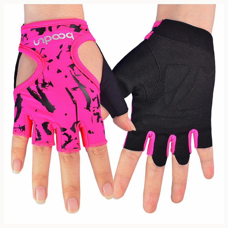 Women Work Out Gloves Weight Lifting Gym Sport Exercise: Hot BOODUN 1 Pair Gym Body Building Training Fitness