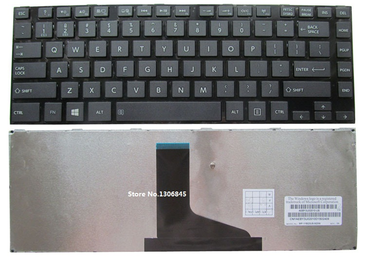 SSEA New laptop US Keyboard For <font><b>Toshiba</b></font> <font><b>Satellite</b></font> M800 M805 <font><b>M840</b></font> 14 inch image
