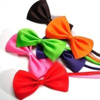 50 teile/los Großhandel Mix Farben Hund Kaninchen Katze Fliege Einstellbare Bowtie Multicolor Polyester & Baumwolle Hundesalon Zubehör