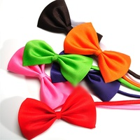 50pcs/lot Wholesale Mix Colors Dog Rabbit Cat Bow Tie Adjustable Bowtie Multicolor Polyester & Cotton Pet Grooming Accessories