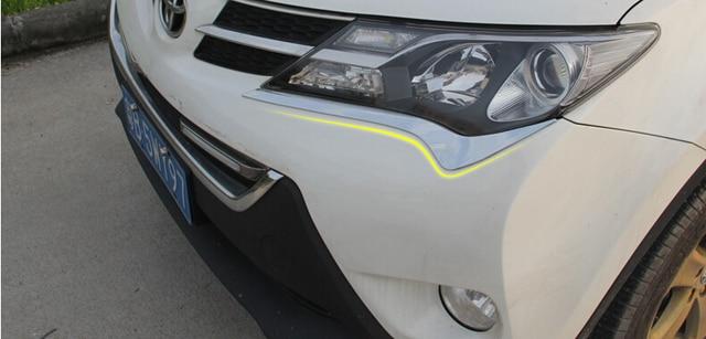 Car head light cover,auto front light trim for Toyota RAV4  2014-2015,ABS chrome,2pc/lot