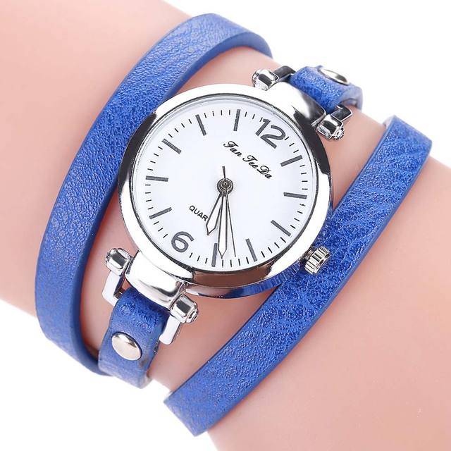 2018 Fashion New Simple Style Thin Leather Casual Bracelet Watch Wristwatch Wome