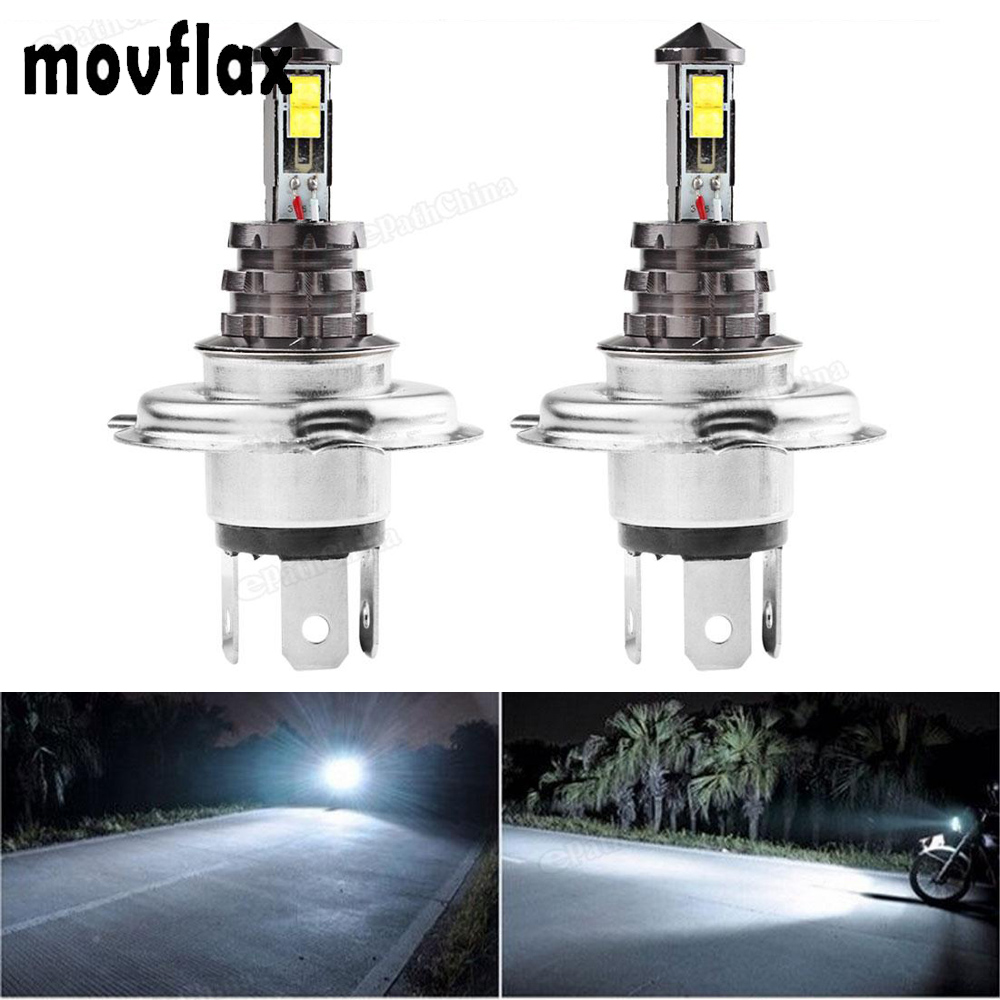 2pcs! 20W H4 Auto Car Fog Light Bulb DC 12V / 24V 360 Degree 720lm 6000K Headlight White LED Fog Lamp