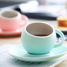 Coffee-Mug-Set Tray-Saucer Globular-Ball with Afternoon Tea Tumbler Cappuccino Espresso-Cup