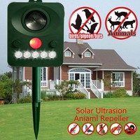 Outdoor Solar Animal Pest Repellent Electronic Ultrasonic Birds Raccoons Rats Reject HG99