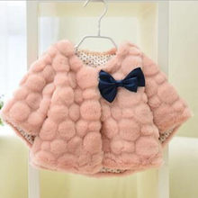 New Children Clothing Autumn And Winter Baby Cloak Korean Girls Imitation Rabbit Faux Fur Coat Long Sleeve Overcoat QV167(China)