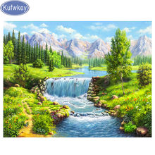 Full,square&round Diamond Embroidery,natural scenery landscape 5d Diamond Painting,Cross Stitch,3D,Mosaic photo,pattern,Crafts(China)