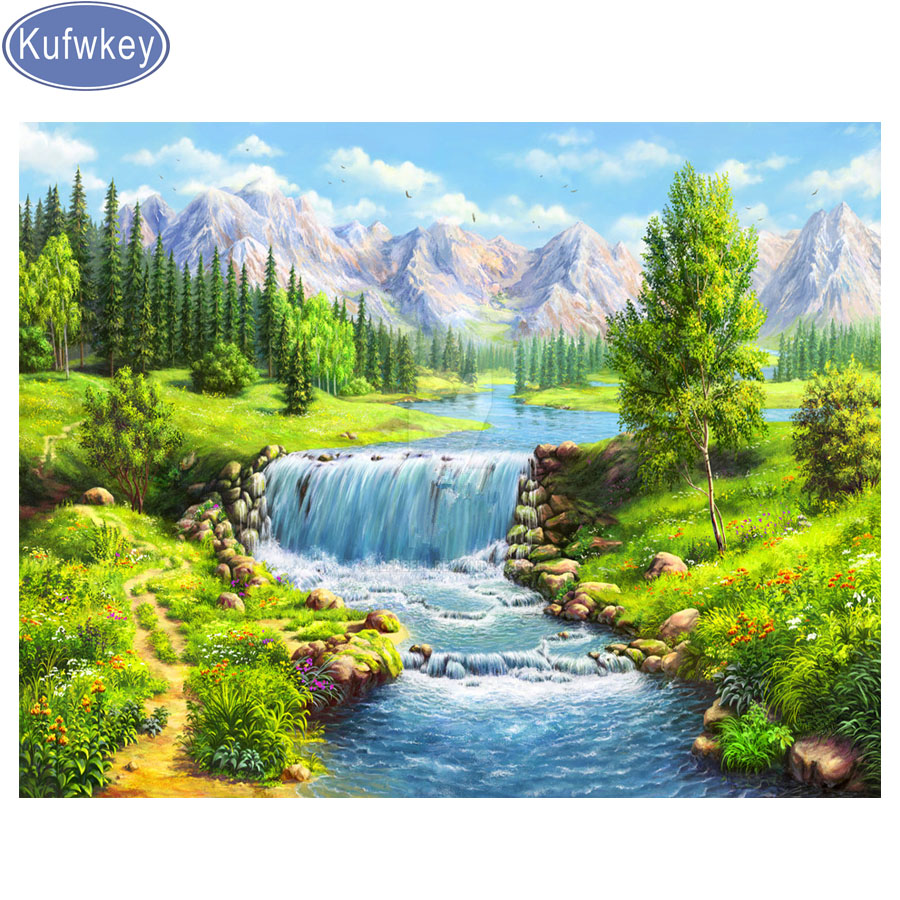Full,square&round Diamond Embroidery,natural scenery landscape 5d Diamond Painting,Cross Stitch,3D,Mosaic photo,pattern,Crafts title=