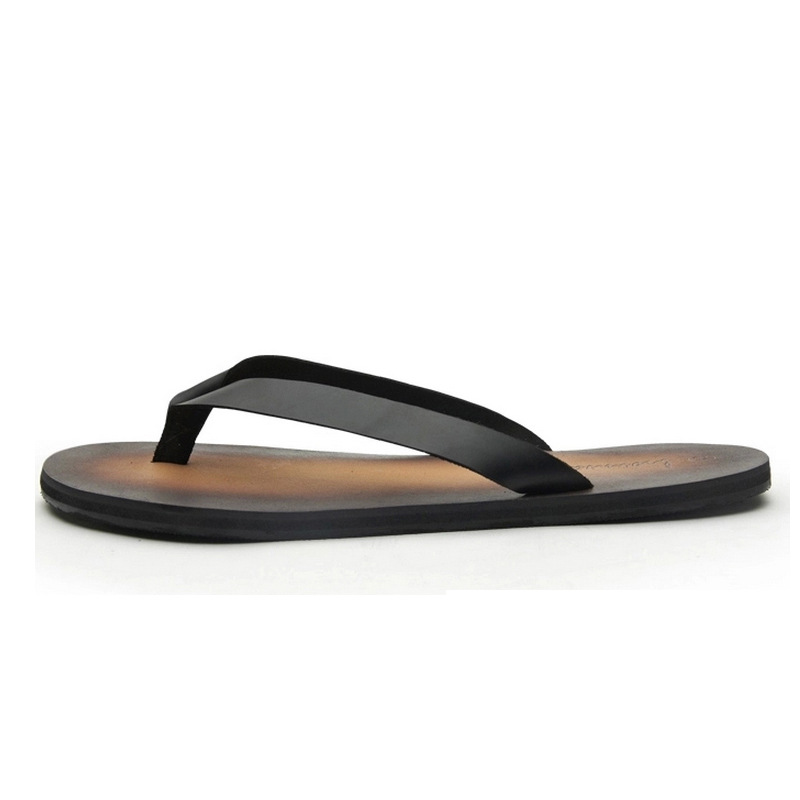 US 6 10 New Summer Men REAL Leather Casual Flip Flops Man T Strap Tongs Leisure Sandals Slipper Shoes Beach Slides in Flip Flops from Shoes